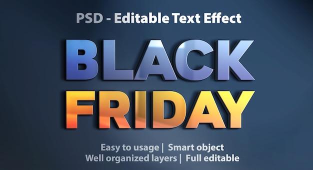 Efecto de texto editable black friday