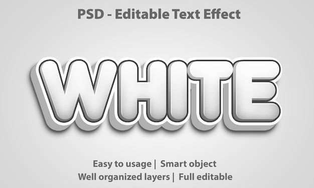 Efecto de texto editable blanco premium