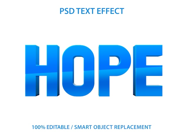 Efecto de texto editable blue hope