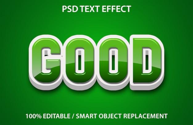 Efecto de texto editable buena prima