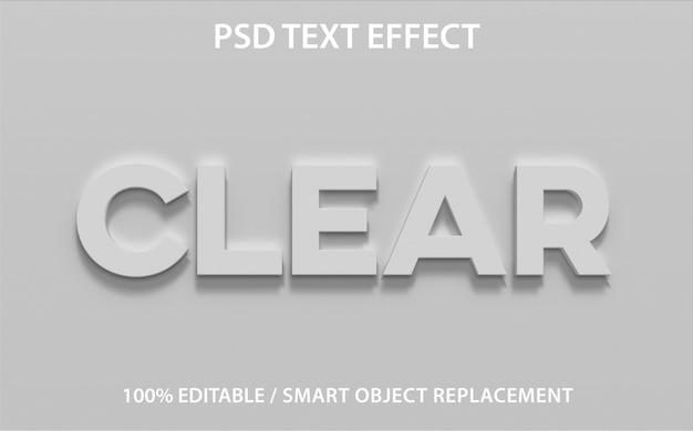Efecto de texto editable claro