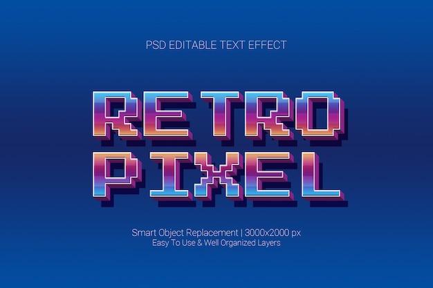 Efecto de texto editable clásico juego retro pixel en 3d