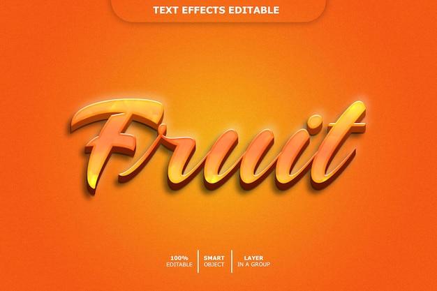 Efecto de texto editable - fruta