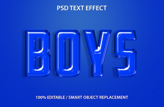 Efecto de texto editable globo azul