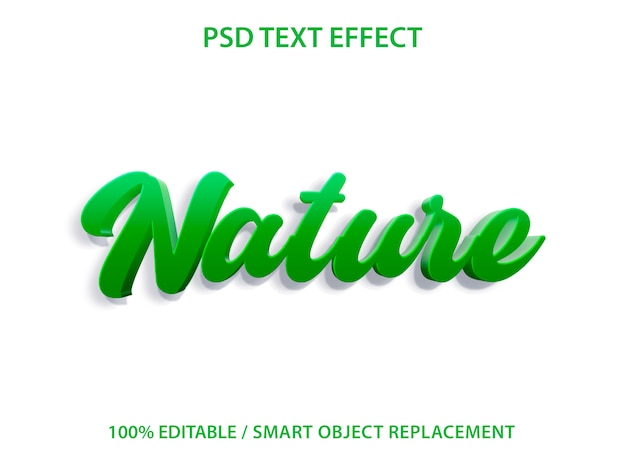 Efecto de texto editable green nature premium