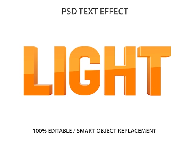 Efecto de texto editable light premium