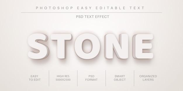 Efecto de texto editable de piedra real 3d, estilo de fuente