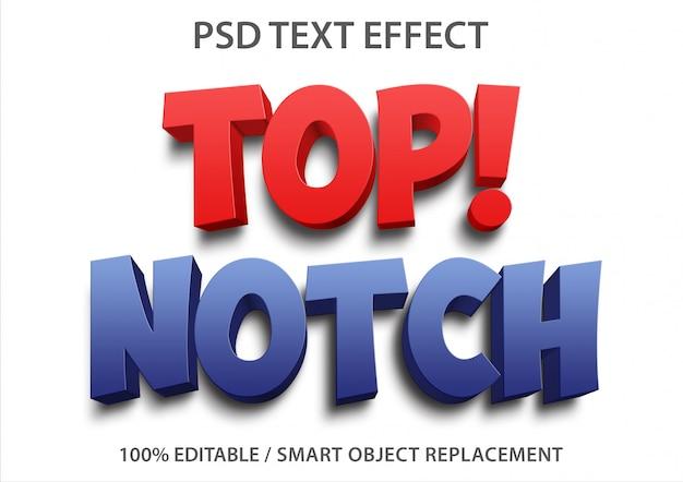 Efecto de texto editable de primera categoría