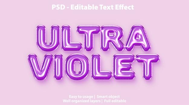 Efecto de texto editable ultravioleta