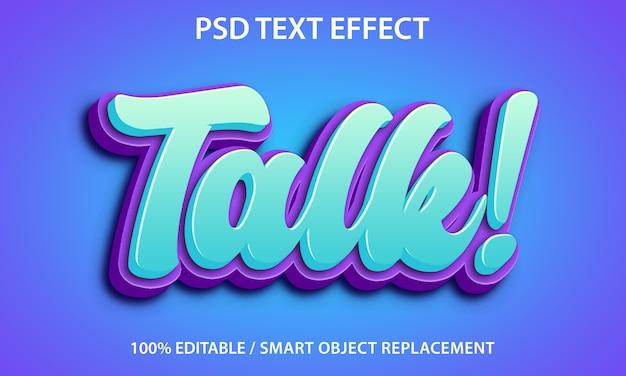 Efecto de texto editable