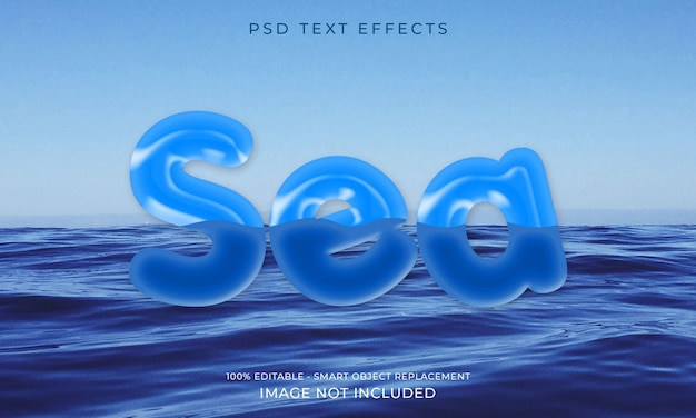 Efecto de texto para un efecto futurista genial premium