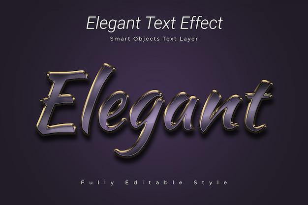 Efecto de texto elegante