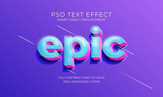 Efecto de texto épico