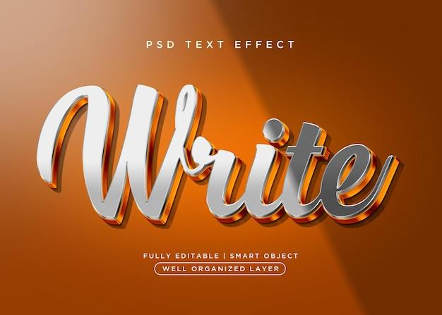 Efecto de texto de escritura de estilo 3d