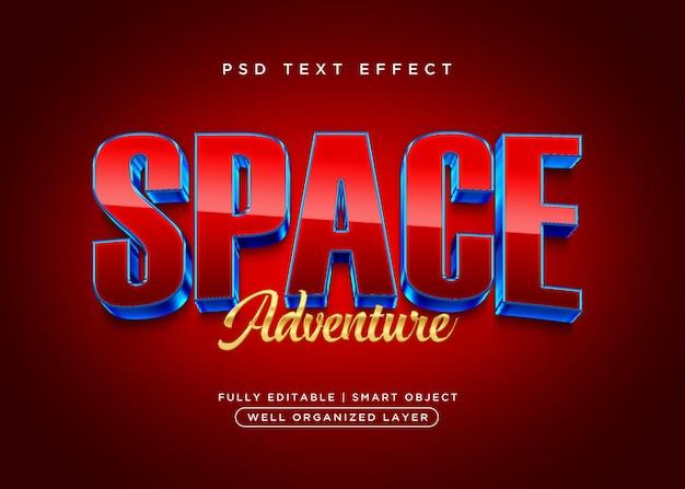 Efecto de texto de espacio de estilo 3d