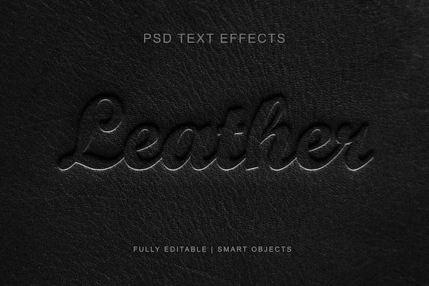 Efecto de texto de estilo de capa editable de cuero