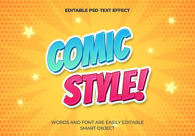 Efecto de texto de estilo cómico