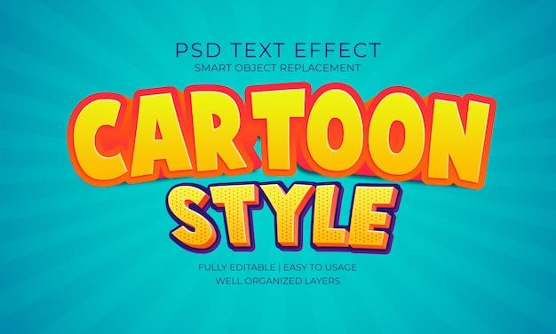 Efecto texto de estilo de dibujos animados