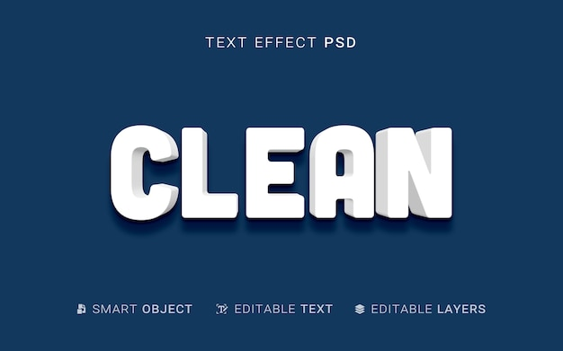 Efecto de texto de estilo de extrusión