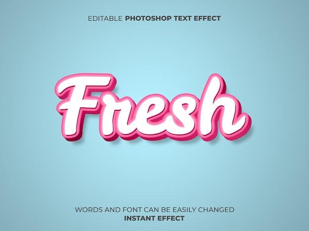 Efecto de texto de estilo fresco rosa
