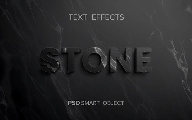 Efecto de texto de estructura de piedra