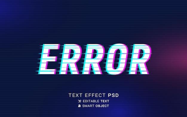Efecto de texto de falla futurista