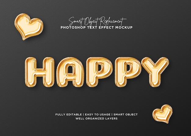 Efecto de texto feliz de estilo 3d