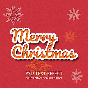 Efecto de texto feliz navidad