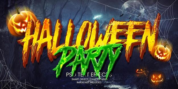 Efecto de texto de la fiesta de halloween