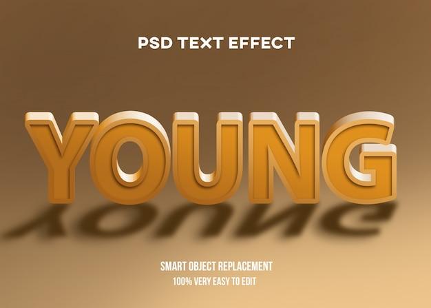 Efecto de texto de foco 3d