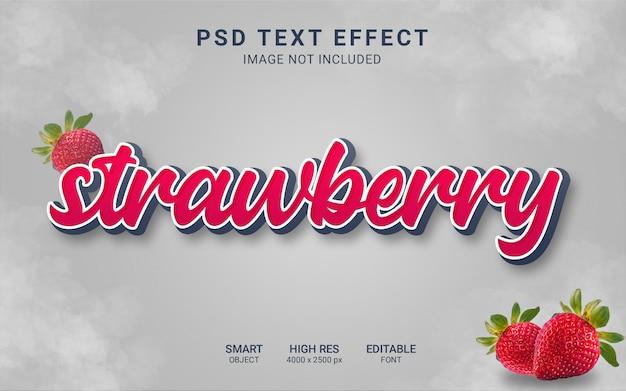 Efecto de texto de fresa