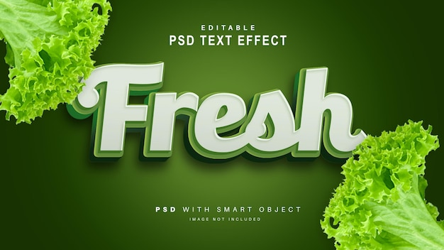 Efecto de texto fresco