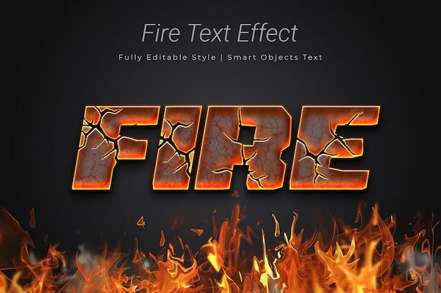 Efecto de texto de fuego