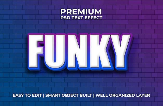 Efecto de texto funky