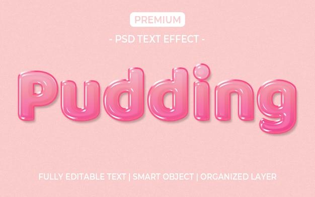 Efecto de texto de gelatina rosa