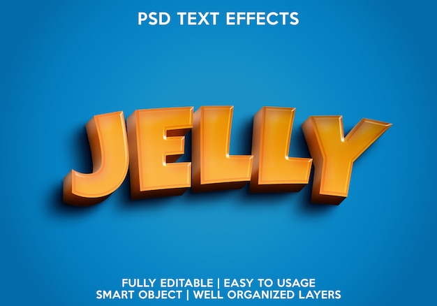 Efecto de texto de gelatina