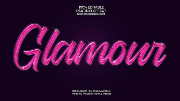 Efecto de texto glamour