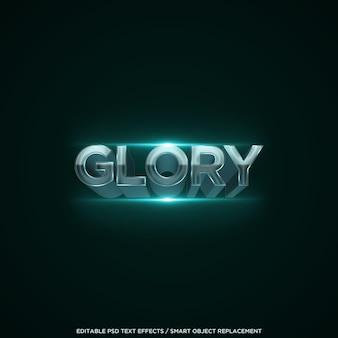 Efecto de texto de gloria 3d