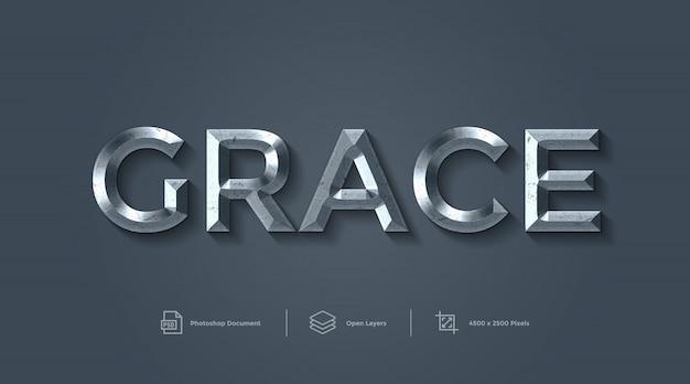 Efecto de texto de gracia efecto de estilo de capa de diseño
