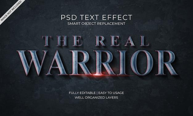El efecto de texto del guerrero real