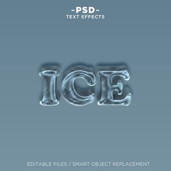 Efecto de texto de hielo 3d