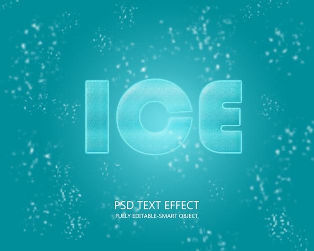 Efecto de texto de hielo