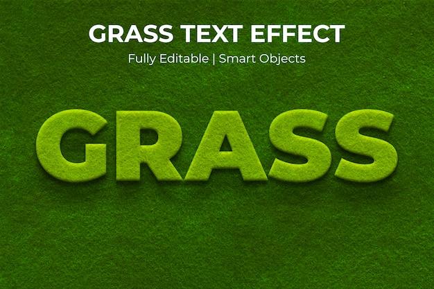 Efecto de texto de hierba