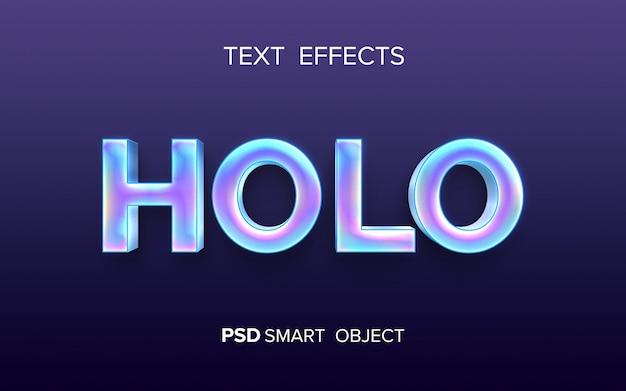 Efecto de texto holográfico