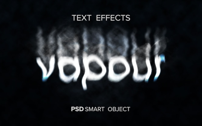 Efecto de texto de humo creativo