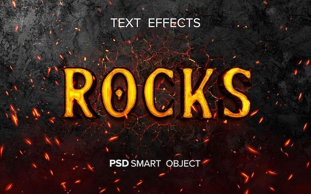 Efecto de texto inspirado en el fuego