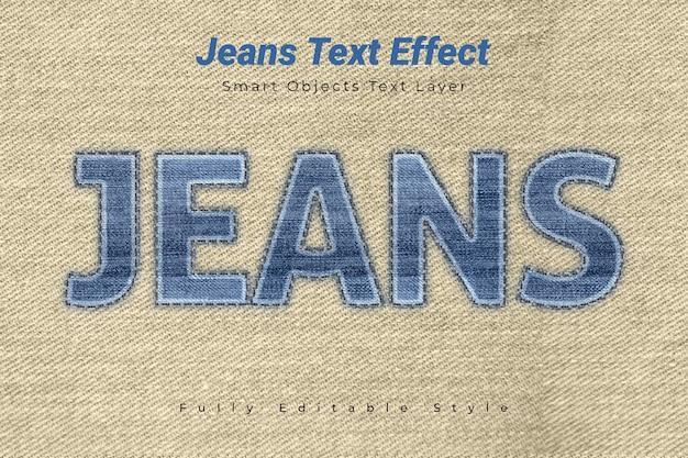 Efecto de texto de jeans