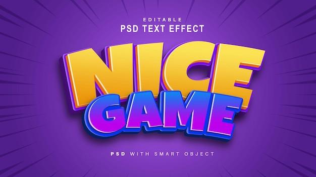 Efecto de texto de juego agradable