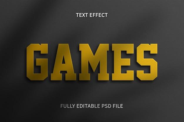 Efecto de texto de juegos