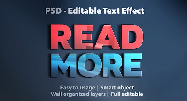 Efecto de texto leer más plantilla